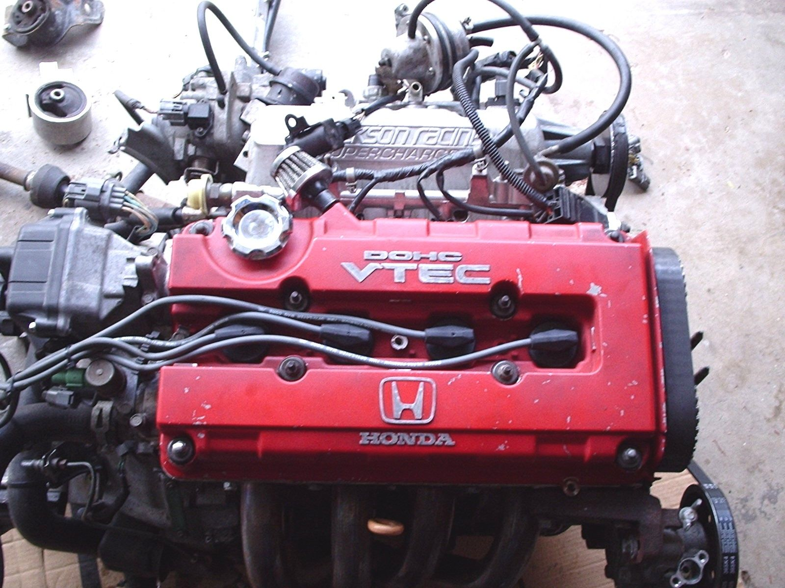 b18c1 motor with supercharger for sale