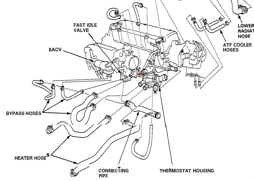 help with d16z6 cooling lines hondaswap rh hondaswap com Mercedes Intake Manifold Diagram O2 Manifold Diagram