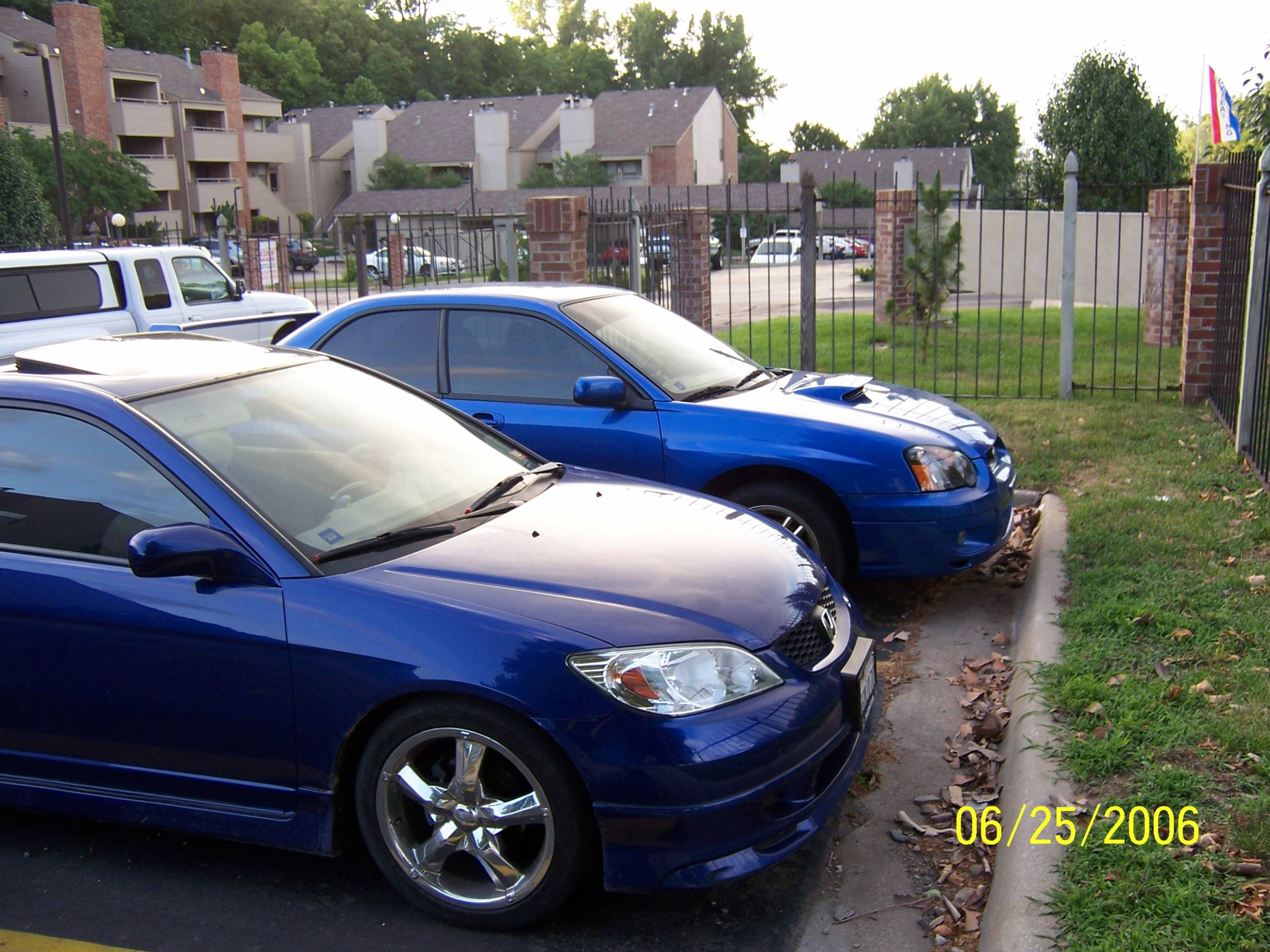 my blue 04 civic!